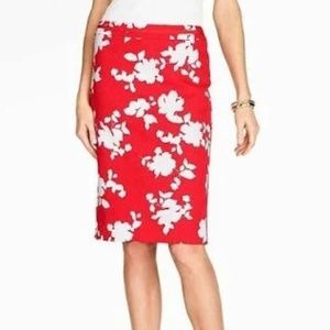 Rose Silhouette Jacquard Pencil Skirt by Talbots